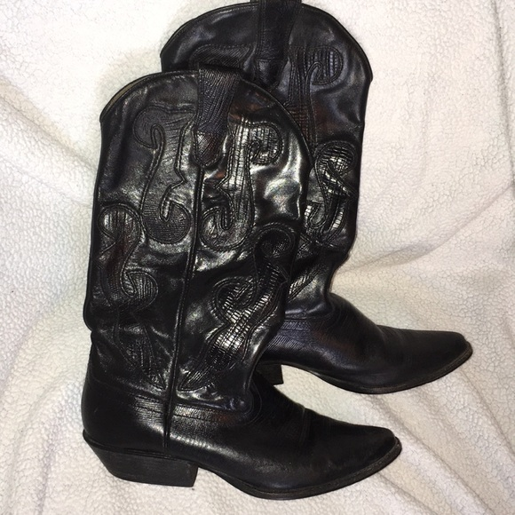 Nine West Shoes - Nine West black leather cowgirl boots